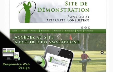 Site de démonstration golf