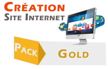 création de site internet : offre gold