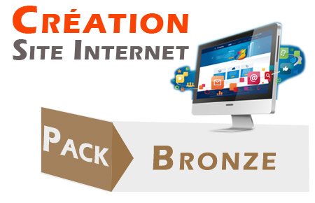 création de site internet : offre bronze