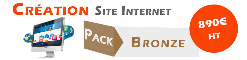 offre creation site internet pack bronze