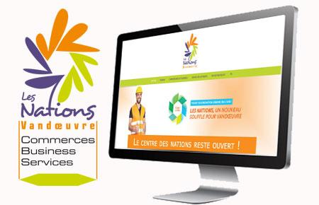 Alternate-web agence web à Metz- Création du site internet mobile du Centre Commercial Les Nations à Vandoeuvre-les-Nancy (nancy, 54)