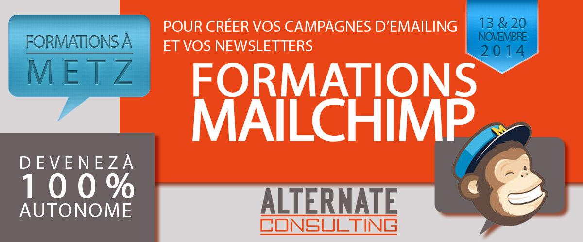 Alternate-web orgaise des formations emailing Mailchimp à Metz CESCOM