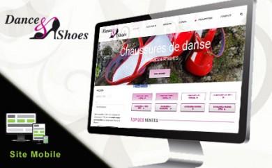 réalisation du site catalogue Wordpress de Dance and shoes Metz