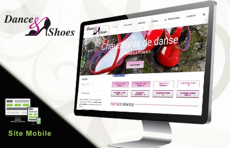 réalisation du site catalogue Wordpress de Dance and shoes Metz